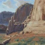 Chuck Rawle, Canyon Colors, oil, 8 x 10.