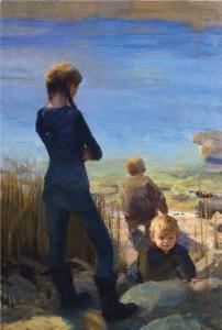Tony Pro, Mother's Love II, oil, 30 x 20.