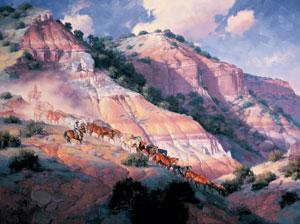 Trail into the Palo Duro, oil, 36 x 48