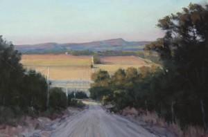 Chuck Rawle, The Golden Hour, oil, 12 x 16.