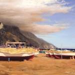 William Berra, Colors of Positano, oil, 24 x 48.