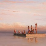 William Berra, Diving Platform, Reflections, oil, 30 x 40.