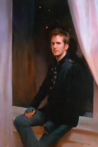 Mia Bergeron, Tim Cofield, oil, 54 x 36.
