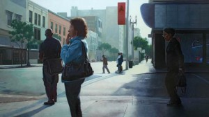 Mike Miller, L.A. Journeys, oil, 28 x 48.