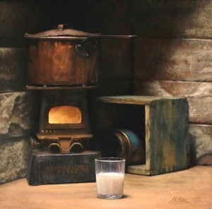 Kyle Pettis, Swedish Milk, oil, 22 x 22.