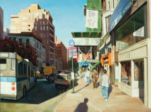 Erica Pollock, Midtown, Midday, oil, 36 x 48.