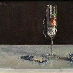 Top in Glass, oil, 9 x 12.