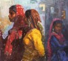 Rajasthani Women, Oil, 22x24.