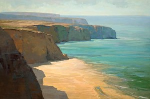 Cliffs, oil, 48 x 72.