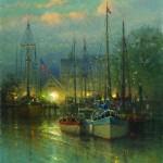 Harbor Dawn, oil, 24 x 18