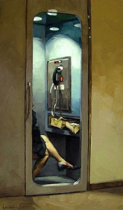 Right To Privacy, Oil, 12x7.