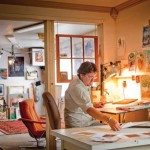 Randy Pijoan in his studio