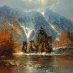Teton Autumn, oil, 18 x 16