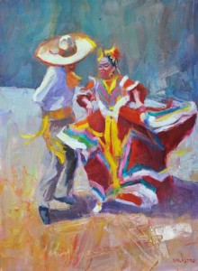 Cinco de Mayo, oil, 40 x 30
