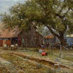 Garden Party, oil, 12 x 16.