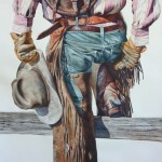 Old Saddle Bags, watercolor, 44 x 32.