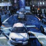 Motion in Blues, oil, 11 x 14.