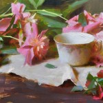 Susan's Peonies, oil, 12 x 16.