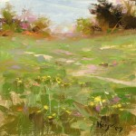 Wild Flowers, oil, 6 x 6.