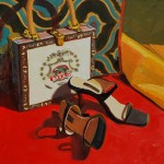 Black Pumps & White Cigar Box Purse by Jeannie Paty