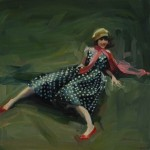 Michelle Torrez, One Way to Wear a Polka Dot, oil, 24 x 24.