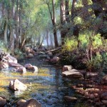 A Midsummer Morning at Paintbranch Creek, oil.