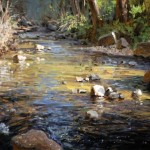 Babbling Brook, oil, 5 x 7.