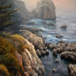 """Tidal Pool Mists"" Big Sur California, oil, 11x14."