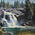Sunlit Falls, oil, 6 x 8.
