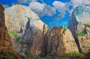 Mouth of Echo Canyon - Zion, oil, 40 x 60.