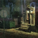 Back Alley Nocturne, oil, 36 x 48.