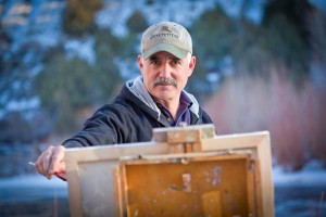 Rick Howell at his easel.