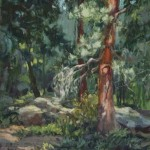 In Kimberly&#039;s Forest, oil, 20 x 16.