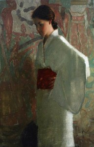 White Kimono, oil, 24 x 16.