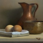 For Chardin, oil, 9 x 12.