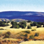 Blue Mesa, oil, 20 x 32.
