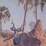 Delta Duet, Greater Kudu, oil, 23 x 35.