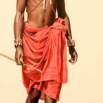 Samburu Warrior, colored pencil, 30 x 13.