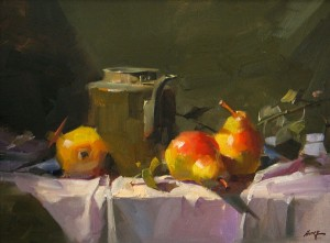 Old Tea Kettle, oil, 12 x 16.