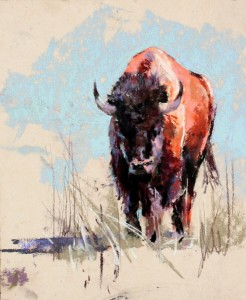 Yellow Bison, pastel, 8 x 10.