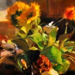 Mixed Arrangement, oil, 11 x 17.