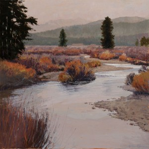 Headwaters of the Salmon, oil, 36 x 36.