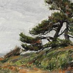 Cyprees Along the Pacific Coast, pastel.