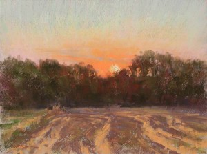 Into the Sunset, pastel, 9 x 12.