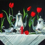 Minuet For The Red Queen, oil, 30 x 50.