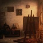 Hamilton Studio, oil.