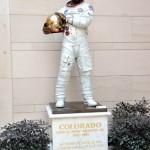 The Astronaut - Portrait of Jack Swigert, bronze, Life-size.