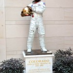 The Astronaut - Portrait of Jack Swigert, bronze, Life-size.