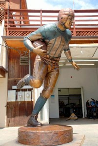 Red Grange Monument, bronze.