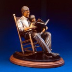 Turning the Pages, bronze, 17 x 19 x 14.